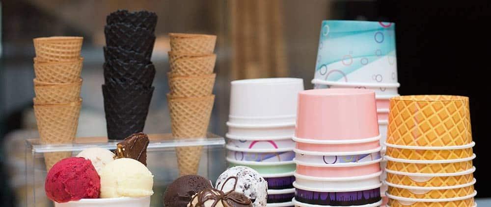 Baskılı Karton Dondurma Kasesi