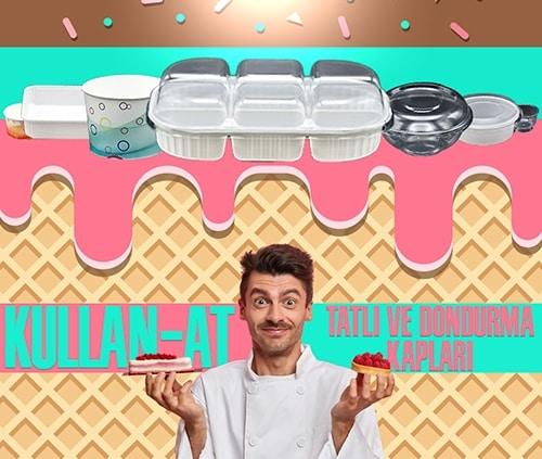 Kullan At Dondurma Tatlı Kabı