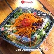 Plastik Kapaklı Salata Kasesi